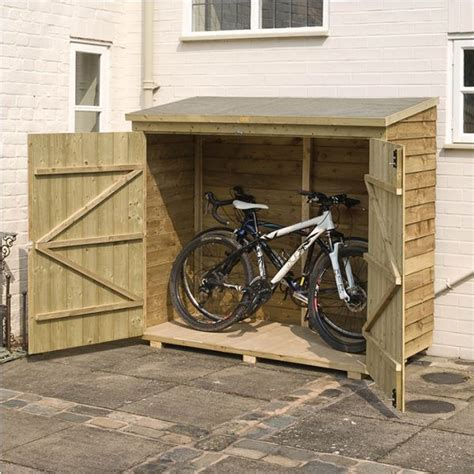 compact bike storage shed rowlinson 6 x 3 door overlap bike shed