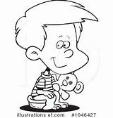 Potty Boy Training Coloring Clipart Template sketch template