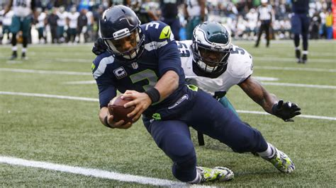 eagles seahawks score highlights russell wilson catches