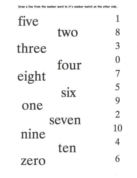 printable number words worksheets activity shelter
