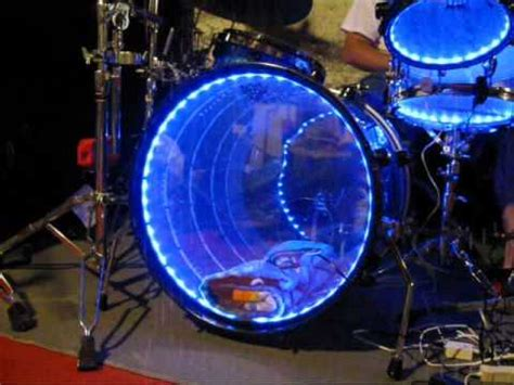 lighted drums led light up drum set drum lights acrylic