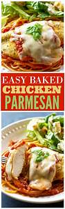 Easy Baked Chicken Parmesan - The Girl Who Ate Everything