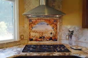 kitchen backsplash tile murals italian tile murals tuscany backsplash tiles