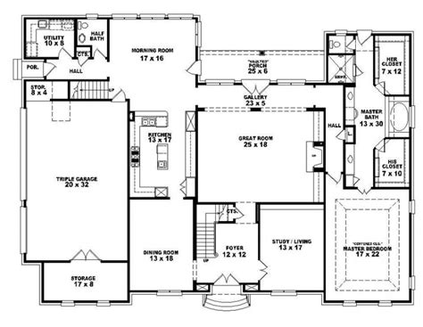 4 bedroom 2 bath floor plans 653921 two 4 bedroom 3 5 bath style house