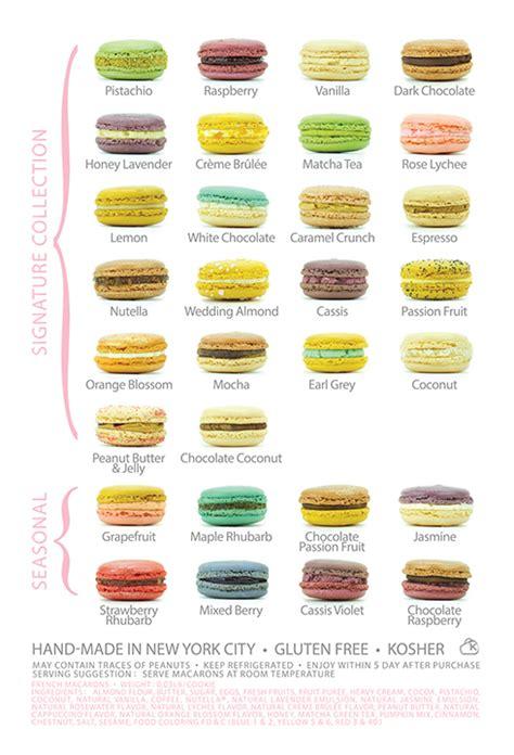 list of dessert names fabipops macaron flavor list baking macaron flavors macaroons and macarons