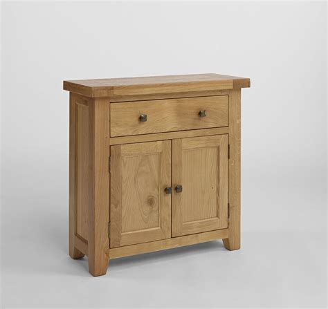Small Wood Sideboard by Small Oak Sideboard Solid Wood Cabinet Storage 2 Doors