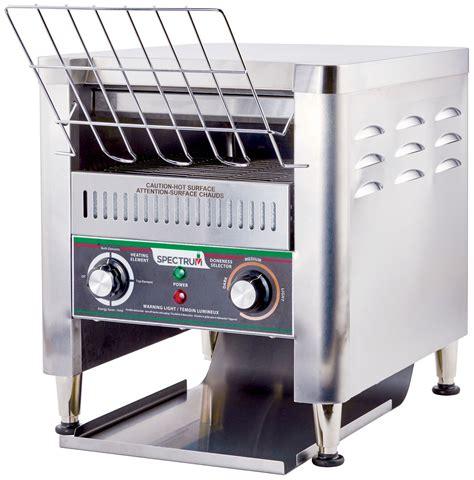 electric conveyor toaster winco ect 500 spectrum electric countertop conveyor
