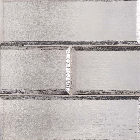 4x12 Subway Tile Daltile by 4 In X 12 In Gray Glisten 8mm Beveled Crystallized Glass