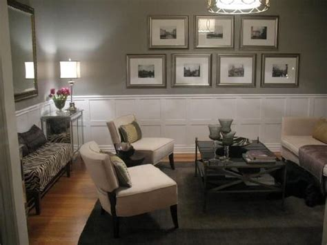 Grey Wall White Wainscoting  Home Inspiration Pinterest