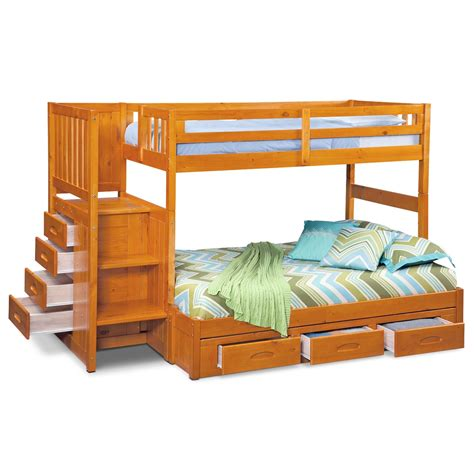 6342 bunk beds with stairs ranger bunk bed with storage stairs