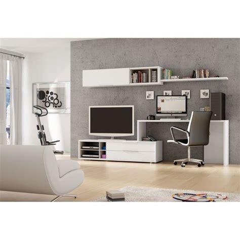 meuble mural tv bureau office couleur blanc m achat