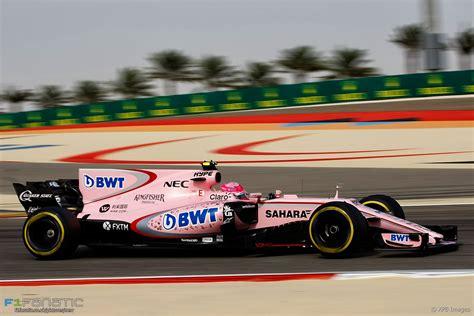 Esteban Ocon Force India Bahrain International Circuit