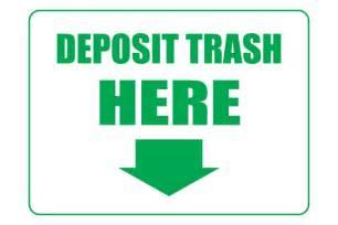 Printable Trash Sign