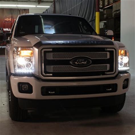 ford  super duty   smoked halo projector