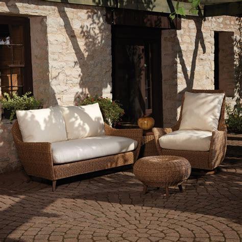 Lloyd Flanders Patio Furniture by Lloyd Flanders Tobago Wicker Loveseat And Lounge Chair