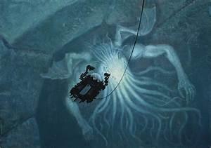 In Sunken R'lyeh Dead Cthulhu Lies Dreaming Painting by