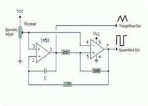 electronics projects simple triangle wave square wave With simple function generator xtreme circuits