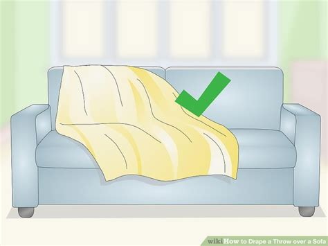 3 Ways To Drape A Throw Over A Sofa Wikihow