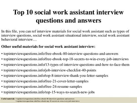 top  social work assistant interview questions  answers