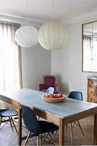 Salle A Manger Couleur Mur Gris Chaises Bleu Fauteuil Lie
