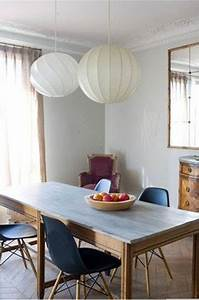 Chaises De Couleur Pour Salle A Manger : salle a manger couleur mur gris chaises bleu fauteuil lie de vin ~ Teatrodelosmanantiales.com Idées de Décoration