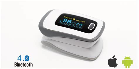 oximeter bluetooth pulse jumper medical finger ce 500f jpd fingertip smart fda approved homecare selling diagnostic devices personal ios android