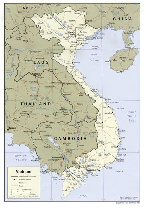 Landkarten Vietnam (politische Karte) : Weltkarte.com ...