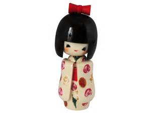 charming festivities japanese kokeshi doll - Green Kitchen Canisters