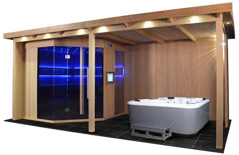 Gartenhaus Sauna Whirlpool by Gartensauna Gs 4025 Vs Bio Kombiofen 555x280cm Heico