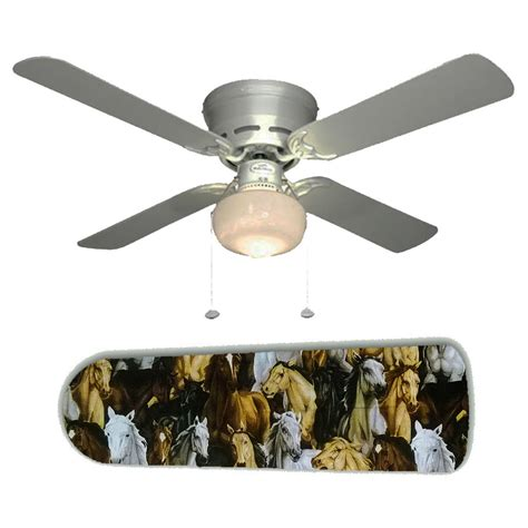 horses western ceiling fan w light kit or blades only