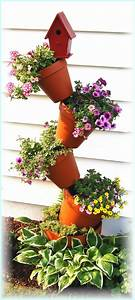 Diy Tipsy Vertical Pot Planter Projects  U0026 Instructions