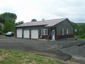 commercial pole buildings in hegins pa timberline buildings With 3 bay pole barn