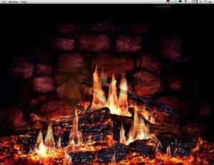Animated Fireplace Wallpaper