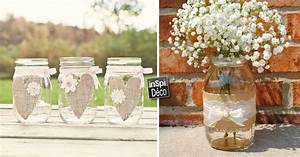 Décorer des bocaux recyclés avec de la toile de jute! 20 idées