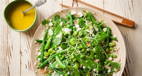 Mangetout with Beans, Quinoa and Feta Salad - ElbeFruit