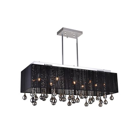Chandelier With Black Shade And Drops by Cwi Lighting Water Drop 10 Light Chrome Chandelier With