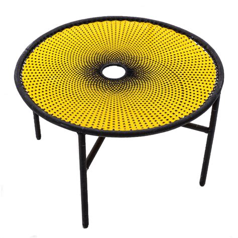 yellow table l banjooli coffee table l yellow black moroso