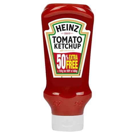 Heinz Top Down Tomato Ketchup & 50% Extra Free