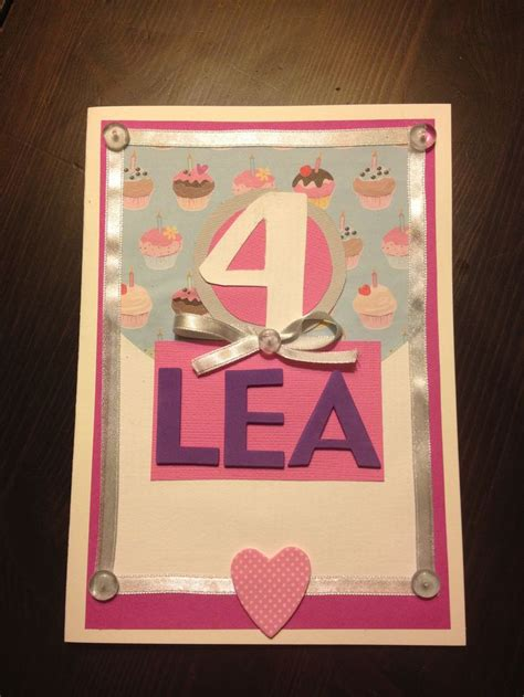 homemade birthday card   year  girl  stuff
