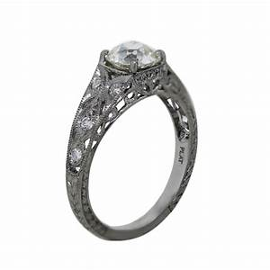 platinum 106ct old european cut diamond vintage style With european style wedding rings