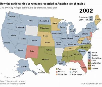 Refugees Refugee Resettlement America Nationalities State 2002