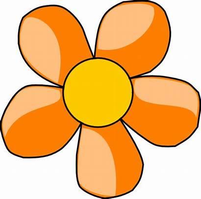 Orange Flower Clip Clipart Clker Svg Cliparts