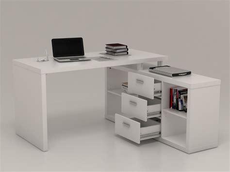 bureau avec retour pas cher bureau d angle avec rangements aldric blanc bureau vente