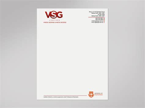 upmarket elegant legal letterhead design   company