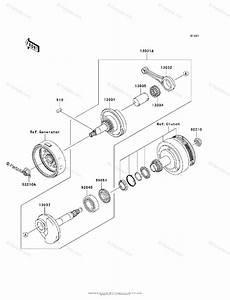 Kawasaki Motorcycle 2008 Oem Parts Diagram For Crankshaft