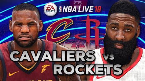 NBA Live 18 Gameplay | Cavaliers vs Rockets - YouTube