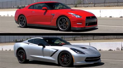 Nissan Gtr Vs Corvette by 2014 Chevrolet Corvette Stingray Vs 2014 Nissan Gt R