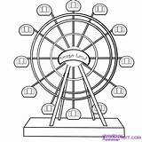 Wheel Ferris Coloring Draw Pages Step Drawing Carnival Rides Wheels Amusement Park Fair Dragoart Ride Drawings County Printable Culture Steps sketch template