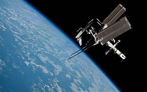 Wallpaper international space station, space, earth, orbit ...