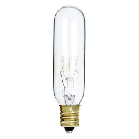 15 Watt Chandelier Light Bulbs by Clear 15 Watt T6 Candelabra Incandescent Light Bulb